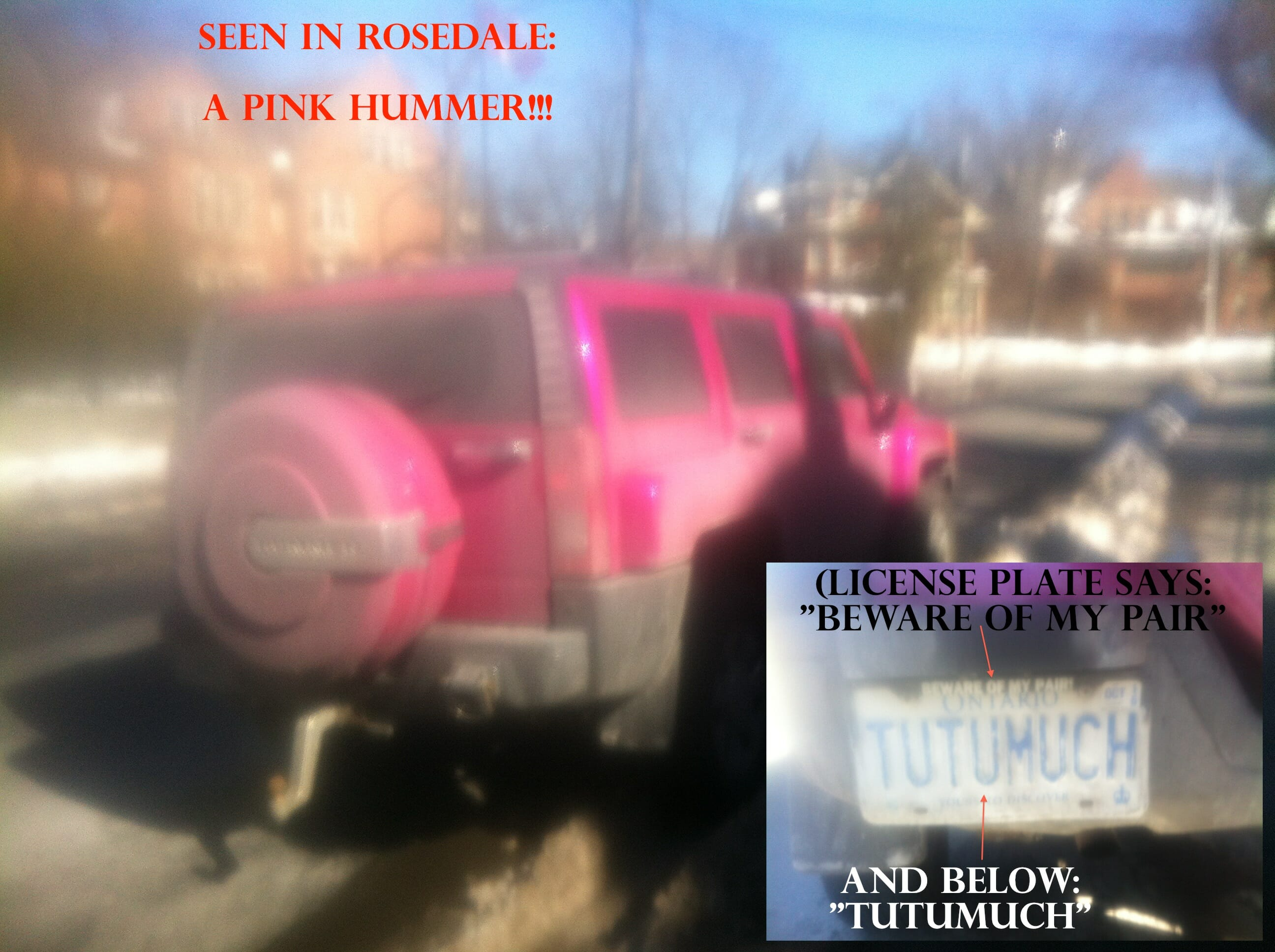 Ovarian Cysts, Ovarian Cancer, & a Pink Hummer in Rosedale