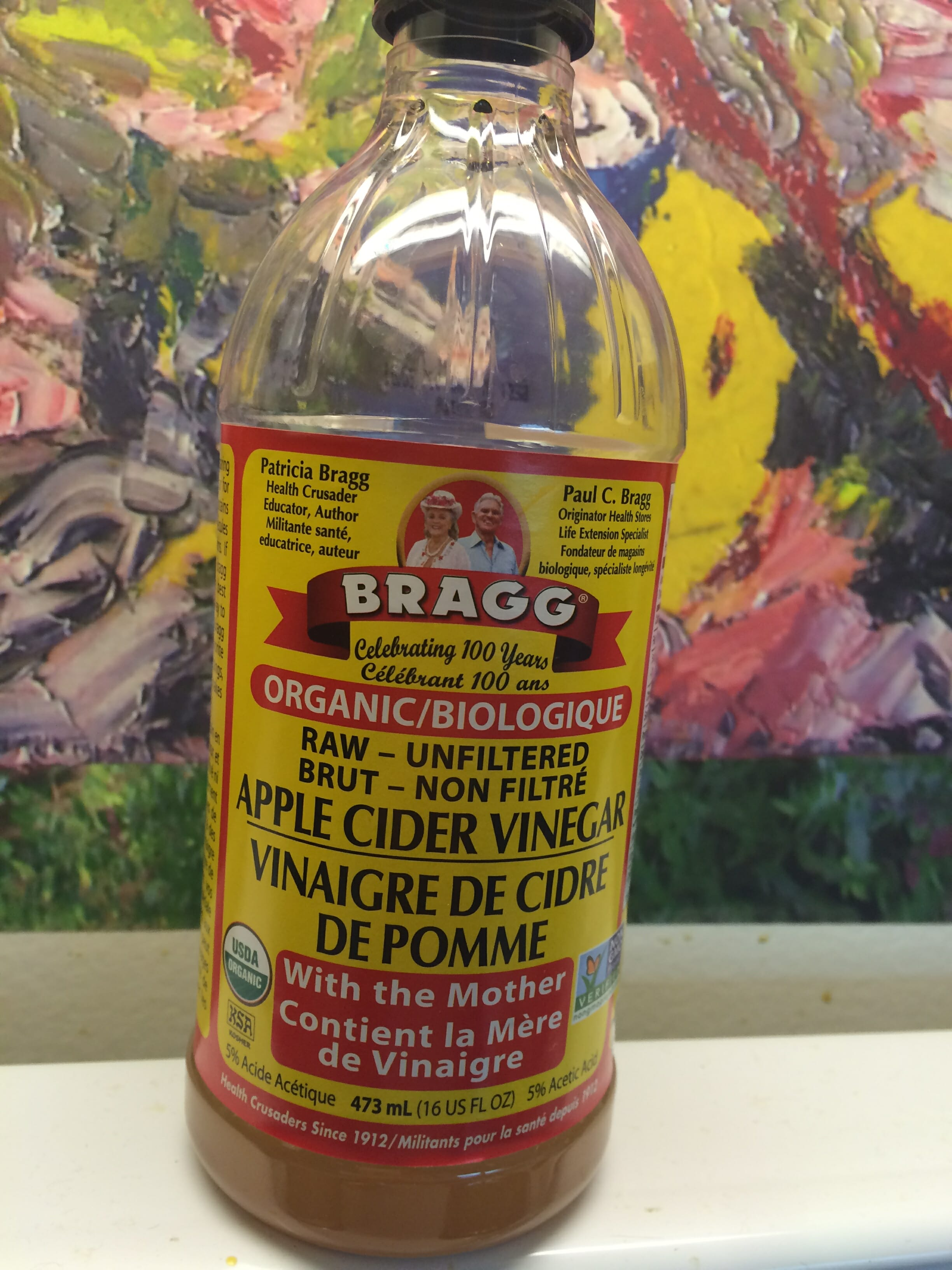 Bragg's apple cider vinegar removed a staph infection I got from eating a sandwich at a Second Cup in St. Joseph's hospital...Staph is LEAD poisoning in bacterial form...