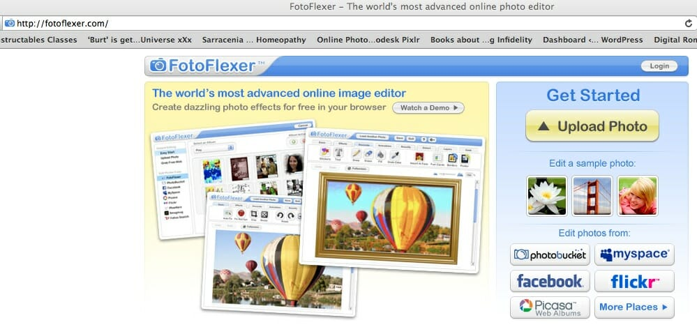 1 Upload Picture to Fotoflexer.com