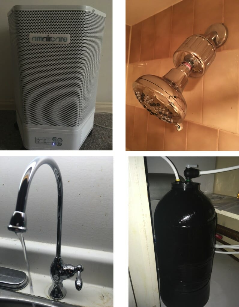 Air filter, Shower filter, Water tap. Under the sink filter